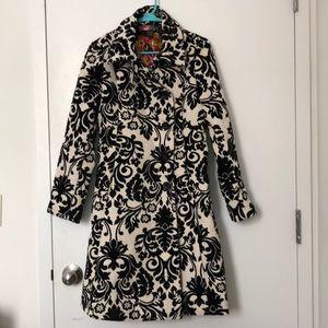 Desigual Black and White Baroque Coat